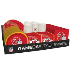 NFL 66 Package Tableware Counter Display Kansas City Chiefs