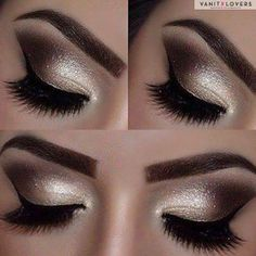 Make-up-Ideen für Silvester-Töne der Leoparden -Dieser Artikel behandelt die B … Makeup Ideas for New Years Eve- Tones of the Leopards -This Article Covers The Best Nail Design And Make Up Ideas For New Years Eve. We Have Sparkle, Smoky Eye, and Silver Ey Silver Eyeshadow, Gold Eye Makeup, Makeup For Brown Eyes, Beauty Makeup, Black Makeup, Makeup Style, Beauty Nails, Mascara, Eyeliner