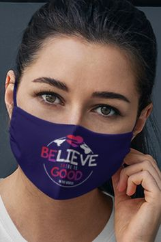 "This colorful Believe There Is Good In The World inspirational face mask is perfect for people who have trouble breathing in other masks. One size fits most adults. 2-layers, very thin & lightweight. If you are looking for inspirational masks, face masks with quotes, or love masks positive sayings - this inspiring ""Believe There Is Good In The World"" mask is perfect for you. Hard Breathing, Positive Sayings, Inspirational Quotes Pictures, New Face, Face Masks, Layers, Believe, Good Things, Colorful"