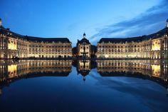 Bordeaux, Place de la Bourse, Miroir d'eau.