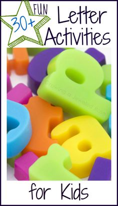 Over 30 FUN ways to teach kids their letters!  These activities foster a lifetime of love of learning through hands on & educational play!