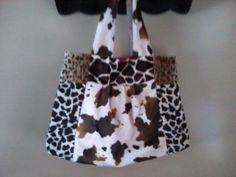 Faux Animal Print Handbag by rebeccaanndesigns on Etsy, $45.00