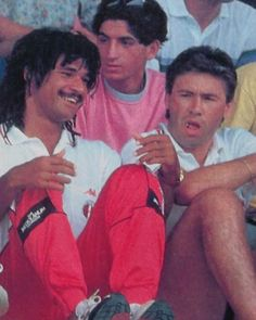 Ruud Gullit and Carlo Ancelotti AC Milan legends by mundialstyle