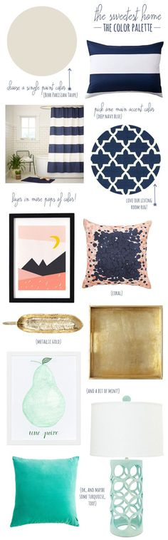 How to create a cohesive color palette in your home from The Sweetest Occasion | For the home | InteriorDesignPro