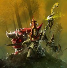 night gobbo shaman, par teli333 #Warhammer #fanart