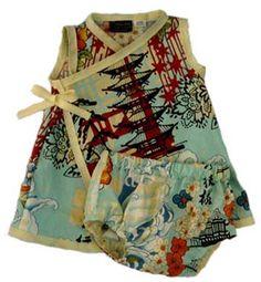 OMG I looooooove this!!!!!! Punk Rock Asian Inspired Kimono Baby Dress: Shanghai