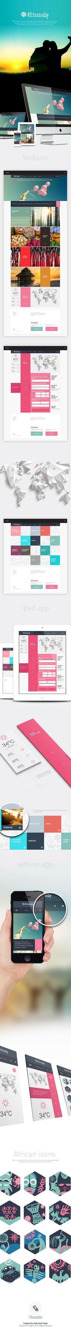 Africanoday | Responsive web app by Plexable Inc, via Behance