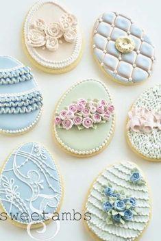 Pretty Easter cookies (Sweetambs).