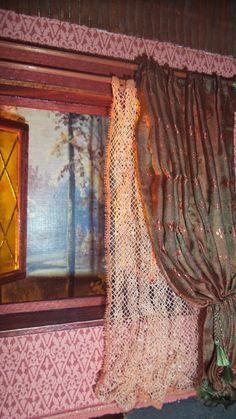 diy cornice for dollhouse window curtains