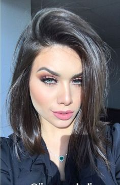 ♥ Pinterest: DEBORAHPRAHA ♥ Flavia Pavanelli long bob haircut! This is such a beautiful hairstyle I love her hair!