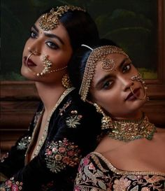 Exquisite Naths handcrafted by Kishandas & Co. for Sabyasachi's celebrated Firdaus collection from his Indian Couture 2016 Indian Dresses, Indian Outfits, Indian Clothes, Moda Indiana, Couture 2016, Couture Week, Indian Aesthetic, Indian Bridal Wear, Indian Couture