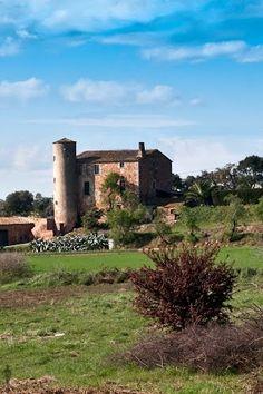 Palafrugell, Girona masia amb torre de guaita Catalonia