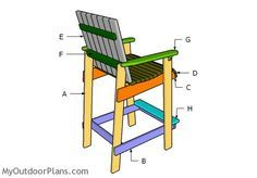 Building A Bar Height Adirondack Chair
