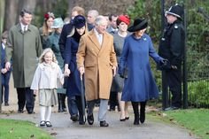 Prince Harry Photos Photos - (L-R) Savannah Phillips, Autumn Phillips, Prince Harry, Prince Charles, Prince of Wales, Princess Eugenie and Camilla, Duchess of Cornwall attend a Christmas Day church service at Sandringham on December 25, 2016 in King's Lynn, England. - The Royal Family Attend Church On Christmas Day