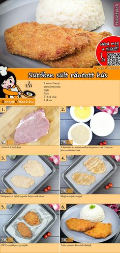 Sütőben sült rántott hús recept elkészítése videóval Pork Recipes, Real Food Recipes, Cooking Recipes, Yummy Food, Dessert Cake Recipes, Hungarian Recipes, Good Foods To Eat, Winter Food, Diy Food