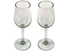 verres à vin verre soufflé craquelé