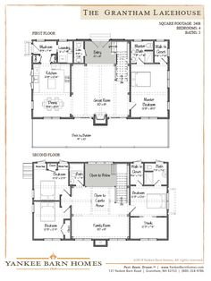 Grantham Lakehouse  Floor Plans.   This is my house plan!!!! Just a few minor changes! I want this house so bad!
