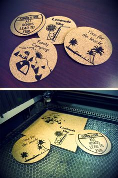 Make Your Own, How To Make, Fun Diy, Laser Engraving, Lemonade, Make It Simple, Summertime, Coasters, Decorations