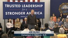 "Jeb Bush asked people at a town hall meeting in New Hampshire on Tuesday to ""please clap"" for him after his words were met with an awkward silence."