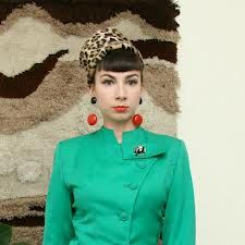 60s fur hat - Sadly, sold already on etsy.  Loving the green mod jacket too.