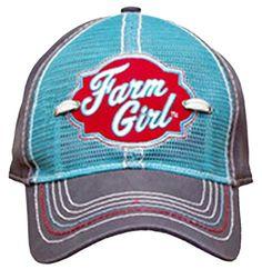 985fadfd Farm Girl Women's Hat Reverse Trucker Front Mesh Cap Adju... https:/