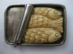HATTIE CARNEGIE SARDINES IN CAN BROOCH