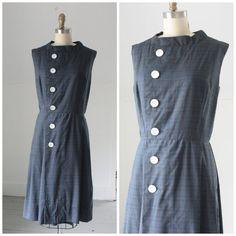 1960's asymmetrical plaid shift dress by SchoolofVintage on Etsy