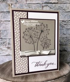 Stampin Up, Stampin' Up! Dandelion Wishes stamp set Festive Farmhouse Designer Series Paper Kindness and Compassion stamp set create Ideas Scrapbook, Scrapbook Cards, Handmade Birthday Cards, Greeting Cards Handmade, Birthday Gifts, Tarjetas Stampin Up, Thank U Cards, Dandelion Wish, Up Book