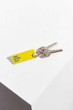 Shop Various Keytags Keychain at Urban Outfitters today. Vintage Dior, Retro Vintage, Branding Materials, Touch Of Gold, Cricut Creations, Joy And Happiness, Geek Chic, Cleaning Wipes, Packaging Design