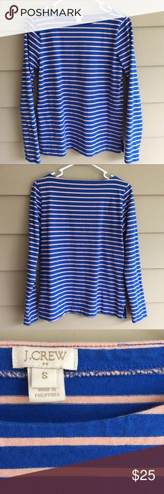 J.Crew Striped Top Striped top, size small, see 3rd photo for most accurate color depiction J. Crew Tops