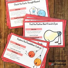 Helping Children Challenge Negative Thinking - Social Emotional Workshop Positive Self Talk, Negative Self Talk, Negative Thoughts, Thinking Errors, Thinking Strategies, Cognitive Distortions, Behavior Interventions, Counseling Activities, Group Counseling
