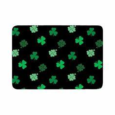 "NL Designs ""Shamrocks"" Green Holiday Memory Foam Bath Mat"