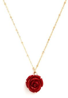 Retro Rosie Necklace in Red, #ModCloth