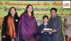 National Champion from Prince Public School awarded by Dr Kiran Bedi in an event organized  by avasindia