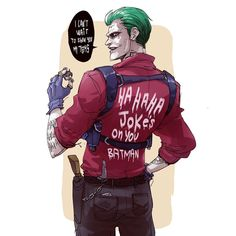 """Joker Art by Jared Leto will slay this role! And I quote .""""It will take me the rest of my life to recover from playing The Joker. Joker Comic, Joker Pics, Joker Art, Joker And Harley Quinn, Comic Art, Batman Arkham City, Gotham City, Jared Leto Joker, Batman Comics"""