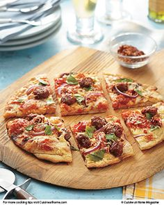 Grilled Sausage Pizza | Cuisine at home eRecipes