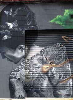Günter Tauchner via STREET ART Community shared a Wall Mural  Piece by Dadospuntocero on Google+  ♥•♥•♥STUNNING♥•♥•♥