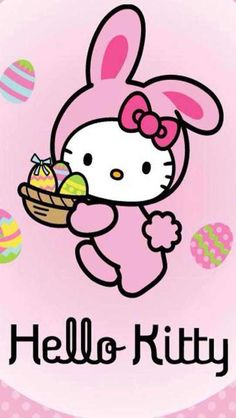 """Our Monkee-Girlz new found LOVE for """"Hello Kitty""""... So we've decided to do her whole basket HELLO KITTY <3 (it's in her blood...lol)"""