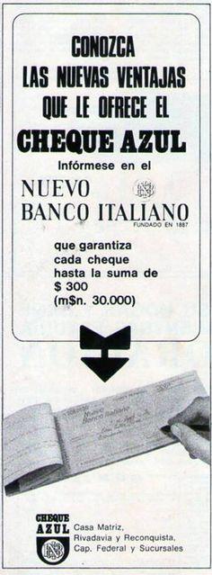 NUEVO BANCO ITALIANO, 1970.