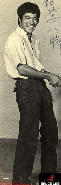 Gorgeous Bruce Lee -- laugh!