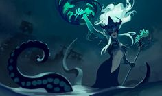 Thorsten Erdt: League of Legends: Sea witch Nami: splash art