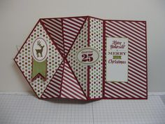 LOTS of paper crafting holiday gift ideas... Holiday Tutorial Blitz - Upright Diamond Fold Card