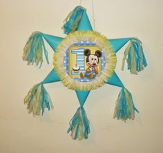 mickey mouse 1st birthday pinata. by themodernpinata on Etsy