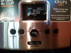 SAVOY features a variety of functions that allow users to enjoy their coffee just the way they like it Krups Coffee Maker, Stew, Brewing, Cleaning, Giveaways, Home Cleaning