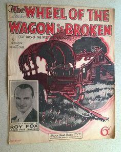 1935 Ukulele and Piano Sheet Music - THE WHEEL  OF THE WAGON IS BROKEN Vintage Sheet Music, Piano Sheet Music, Denmark Street, Him Band, Ukulele, Music Songs, Books, Ebay, Livros