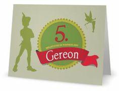 Peter Pan Einladung zum 5. Geburtstag Peter Pan Party, Ferrari Logo, Banner, Logos, Kids, Design, Birhday Cake, Writing Paper, Business Cards