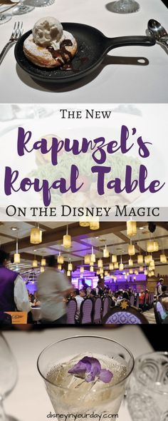 The newest restaurant on Disney Cruise Line is Rapunzel's Royal Table on the Disney Magic - decorated just like the movie Tangled, you can meet Rapunzel and Flynn and enjoy some great food! Disney World Planning, Disney World Vacation, Disney Vacations, Walt Disney World, Cruise Vacation, Disney Travel, Family Vacations, Vacation Destinations, Family Travel