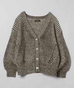 7G2カラーリブショートカーディガン Knitwear Fashion, Fall Sweaters, Simply Vera, Knit Jacket, Fashion 2020, Knitting Patterns, Fall Winter, My Style, Lady
