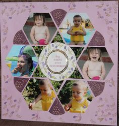 another layout done with Lea France stencil.  did some stamping and embossing on this one.