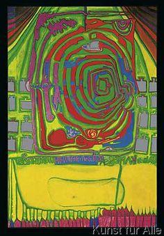 Friedensreich Hundertwasser - green spiral at home